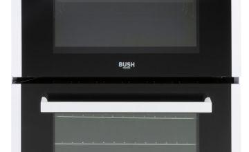 Bush B60TCWX 60cm Twin Cavity Electric Cooker - White