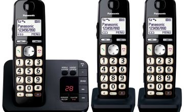 Panasonic KX-TGE723EB Easy Use Cordless Telephone - Triple