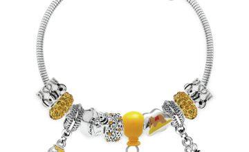 Disney Winnie The Pooh Crytal Made Up Charm Bracelet