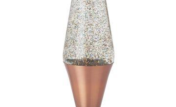 Lava Lite Glitter Lamp - Rose Gold