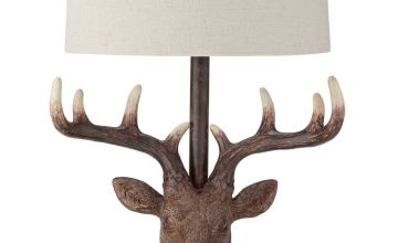 Argos Home Oversized Stags Head Table Lamp