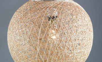 Argos Home Abaca Ball Shade - Natural