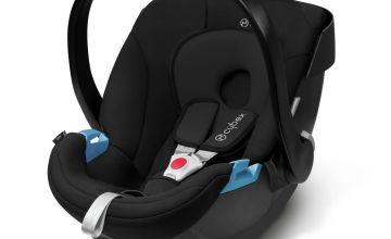 Cybex Aton Group 0+ Baby Car Seat - Pure Black