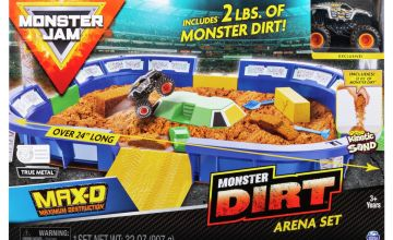Monster Jam Kinetic Dirt Arena and Truck