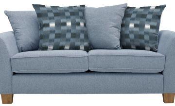 Argos Home Auria 3 Seater Fabric Sofa - Blue