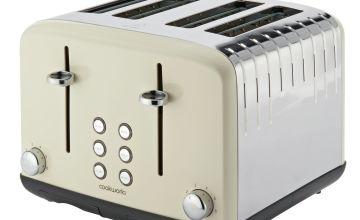 Cookworks Pyramid 4 Slice Toaster - Almond