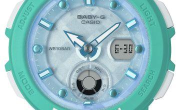 Casio Ladies Baby G Aqua Rubber Strap Watch