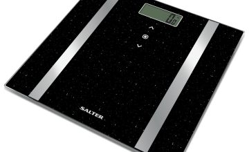 Salter Glitter Body Analyser Scale - Black