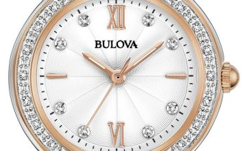 Bulova Ladies Two Tone Stainless Steel Bracelet Watch