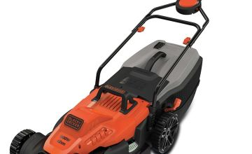 Black + Decker 42cm Lawnmower with EasySteer