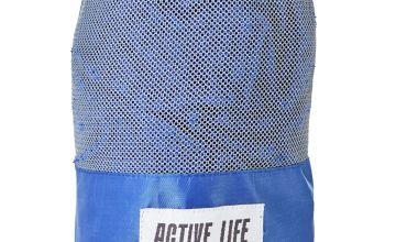 Active Life Happy Life Sports Towel - Blue