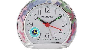 Wm. Widdop Leaf Design Alarm Clock