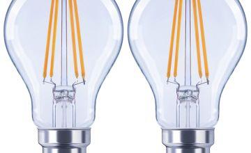 Argos Home 6W LED BC Light Bulb - 2 Pack