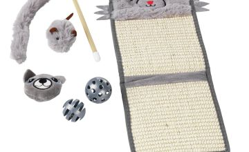 Part of the Family Cat Scratcher Mat & Toys Gift Set