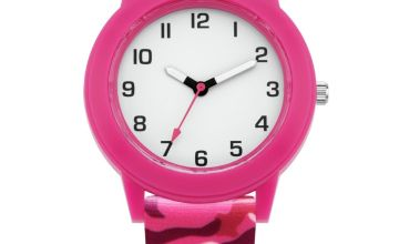 Little Tix  Pink Camouflage Silicone Strap Watch