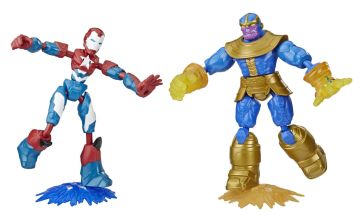 Marvel Avengers Bend and Flex Iron Patriot vs. Thanos