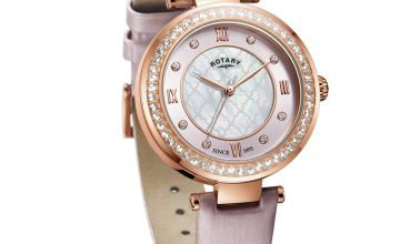 Rotary Ladies Blush Satin Strap Watch