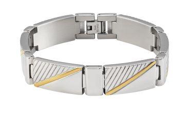 Revere Men's Two Tone Stainless Steel Bracelet