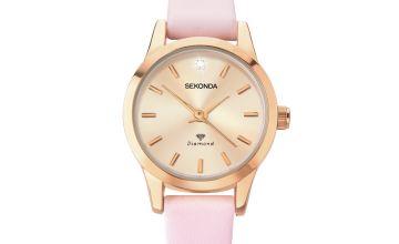 Sekonda Ladies Blush Pink Strap Watch