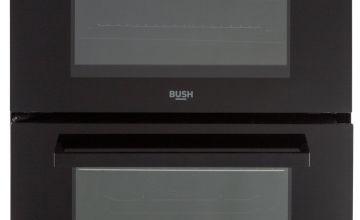Bush B60TCBX 60cm Twin Cavity Electric Cooker - Black