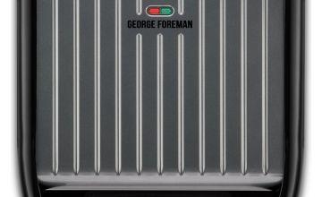 George Foreman Large Grey Steel Grill 25051