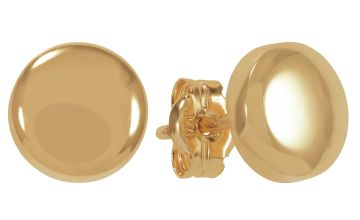 Revere 9ct Gold Button Stud Earrings