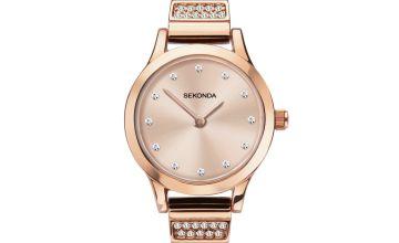 Sekonda Ladies Rose Gold Coloured Bracelet Watch