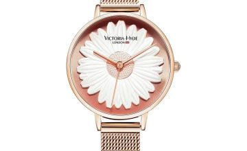 Victoria Hyde Rose Gold Stainless Steel Bracelet Strap Watch