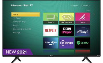 Hisense Roku 50 Inch R50A7200UK Smart 4K HDR LED Freeview TV