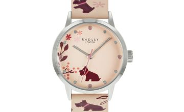 Radley Ladies Floral Blush Pink Leather Strap Watch