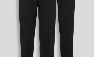 Online Exclusive Black Longer Leg Trousers 2 Pack