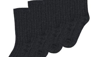 Black Ribbed Socks 5 Pack
