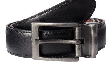 Tan & Black Reversible Belt