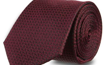 Red Textured Tie - One Size
