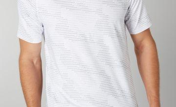 Admiral White Geometric Print T-Shirt