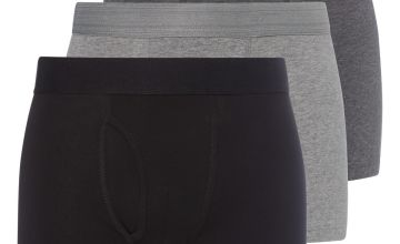 Grey & Black Trunks 3 Pack
