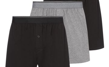 Black & Grey Jersey Boxers 3 Pack