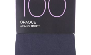 Navy 100 Denier Opaque Tights 3 Pack