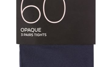 Navy 60 Denier Opaque Tights 3 Pack