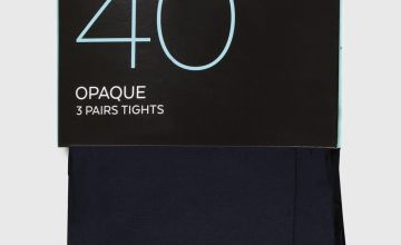 Navy 40 Denier Opaque Tights 3 Pack
