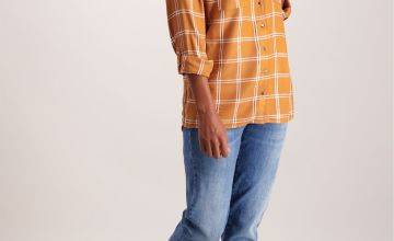 Toffee Brown Check Shirt