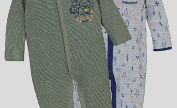 Grey & Green Wild West Sleepsuits 2 Pack - 2-3 years