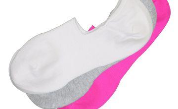 Multicoloured Neon No Show Socks 3 Pack - 4-8