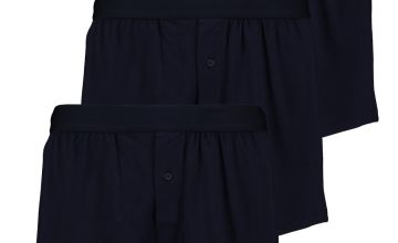 Navy Blue Cotton Jersey Boxers 3 Pack