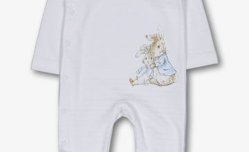 Peter Rabbit White & Blue Sleepsuit
