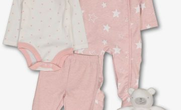 Pink & White 4 Piece Starter Set - 9-12 months