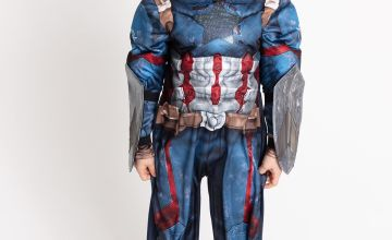Marvel Avengers Captain America Navy Costume