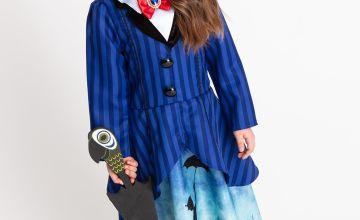Disney Mary Poppins Blue Costume 3 Part Set