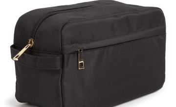 Black Canvas Wash Bag - One Size