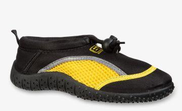 BANANA BITE Black & Yellow Wetshoes